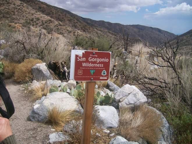 San Gorgonio sign